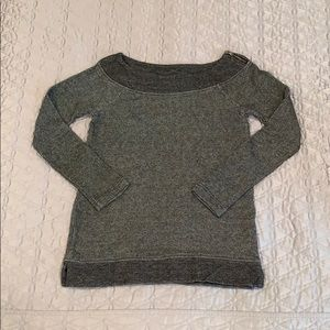 Boatneck knit sweatshirt top
